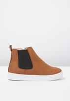 Cotton On - Darcy gusset boot - tan & black