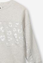 Cotton On - Premium splice crew - grey & sliver