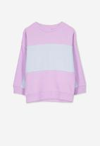 Cotton On - Premium spliced crew - purple & grey