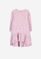 Cotton On - Joss long sleeve dress - pink