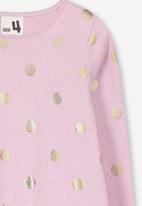 Cotton On - Joss long sleeve dress - pink