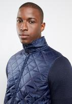STYLE REPUBLIC - Quilted front zip jacket - navy