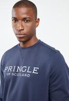 Pringle of Scotland - Keswick crew neck sweat top - navy