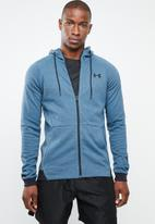 Under Armour - Unstoppable knit full-zip hoodie - blue