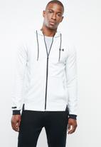 Under Armour - Unstoppable 2x knit full-zip hoodie - grey