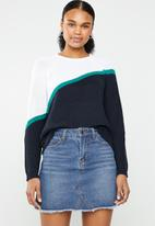 ONLY - Hilde long sleeve block pullover - multi
