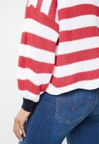 ONLY - Hilde long sleeve stripe pullover - multi