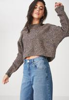 Cotton On - Jeri batwing pullover - charcoal