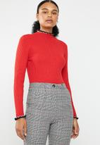 ONLY - Laura long sleeve pullover knit - red