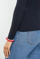 ONLY - Laura long sleeve pullover knit - navy