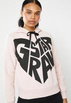 G-Star RAW - Graphic 50 xzula long sleeve hoodie - pink