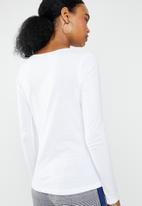 New Look - Long sleeve crew neck top - white