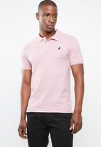 POLO - Stretch pique golfer - pink