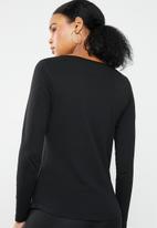New Look - Long sleeve crew neck top - black
