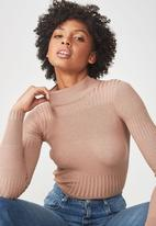 Cotton On - Quinny variegated long sleeve knit - brown