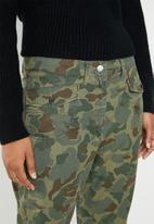 G-Star RAW - Army radar mid boyfriend ankle jean - khaki & brown