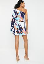 RUFF TUNG - Flora belted playsuit - multi
