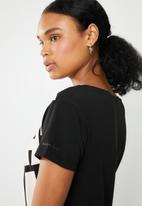 G-Star RAW - Graphic 50  short sleeve tee - black & pink