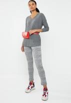 New Look - Brushed rib oversized top - grey