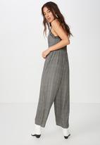 Cotton On - Woven tash strappy jumpsuit - black