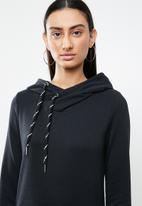 ONLY - June long sleeve hoodie dress - black