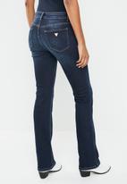 GUESS - Guess dark wash bootleg jeans - blue