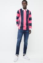 adidas Originals - Samstag rugby tee - navy & pink
