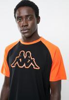 KAPPA - Logo zobiran tee - black & orange