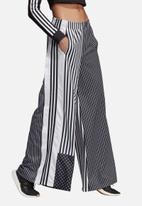 adidas Originals - Wide leg track pants - black & white