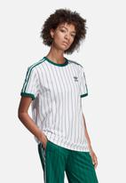 adidas Originals - Boyfriend tee - white & green