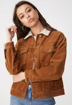 Cotton On - Batwing fashion trucker - brown