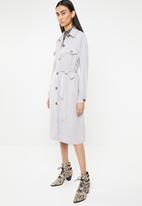 Missguided - Utility shirt dress - grey