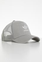 adidas Originals - Trefoil trucker cap - grey & white