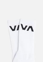 RVCA - Va sport sock - white