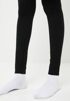 Superbalist - Premium stretch mid rise tregging with zip - black