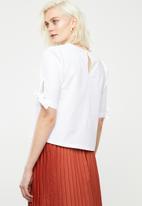 Superbalist - Tie sleeve blouse - white