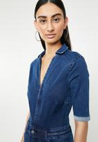 Sissy Boy - Flare jumpsuit - blue