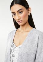ONLY - Sara longline cardigan - grey