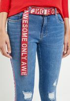 ONLY - Carmen regular tape denim jeans - blue