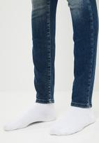 ONLY - Shape ripped deim jeans - blue