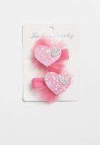 POP CANDY - Heart detailed hair clip - light pink