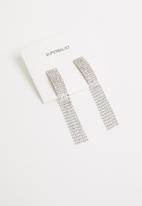Superbalist - Diamante statement earrings - silver