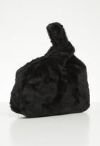 Superbalist - Faux fur knotted bag - black