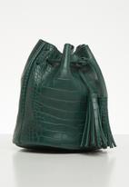 Superbalist - Misty croc bucket bag - green