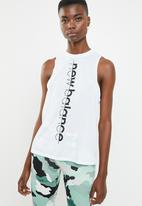New Balance  - Heather tech tank print - performance - white