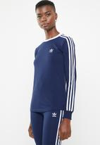 adidas Originals - 3 Stripes long sleeve tee - blue