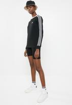 adidas Originals - 3 Stripe longsleeve tee - black