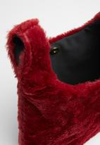 Superbalist - Faux fur knotted bag-burgundy