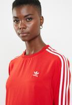 adidas Originals - Adidas frill casual dress - red