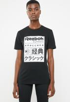 Reebok Classic - Classic graphic tee - black